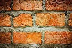 Die Oberfläche der Wand des roten Backsteins Stockbild