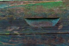 Die Oberfläche des alten Bienenstocks mit einigen Schichten Farbe Lizenzfreie Stockbilder