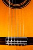 Die Oberseite einer klassischen Gitarre Stockbild