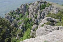 Die Oberteile Berge Stockbilder