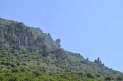 Die Oberteile Berge Stockfotos