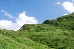 Die Oberteile der Berge Stockfoto