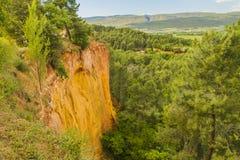 Die Ocker von Roussillon stockbilder
