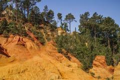 Die Ocker von Roussillon lizenzfreies stockbild