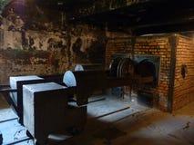 Die Ofenkonzentration im ehemaligen Konzentrationslager Auschwitz birkenau Stockbilder