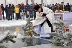 Die Offenbarung des Lords im Dorf von Mukhavka Stockbilder