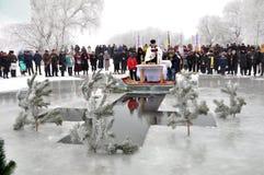 Die Offenbarung des Lords im Dorf von Mukhavka Stockbild
