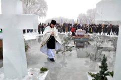 Die Offenbarung des Lords im Dorf von Mukhavka Lizenzfreies Stockfoto