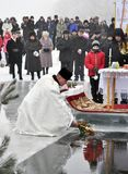 Die Offenbarung des Lords im Dorf von Mukhavka Stockfotografie