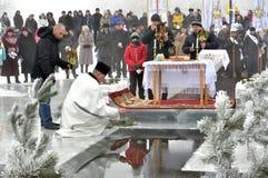 Die Offenbarung des Lords im Dorf von Mukhavka Lizenzfreie Stockbilder