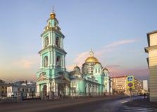 Die Offenbarungs-Kathedrale bei Yelokhovo Moskau, Russland Lizenzfreie Stockfotografie