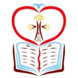 Die offene Bibel und der Symbolismus des christlichen Lebens und der Rettung lizenzfreies stockfoto