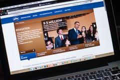 Die offizielle Website des Weißen Hauses Stockbild