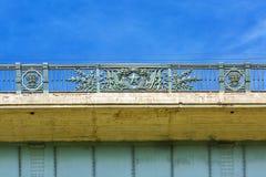 Die Oktober-Brücke, Metalllegierungselemente Nowosibirsk, Sibirien, Lizenzfreie Stockfotografie