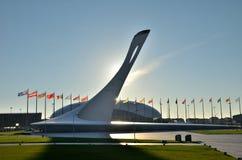 Die olympische Flamme der Schale Lizenzfreie Stockbilder