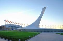 Die olympische Flamme der Schale Stockbilder