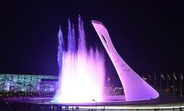 Die olympische Flamme der Schale Lizenzfreies Stockfoto