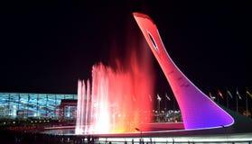Die olympische Flamme der Schale Stockfotografie