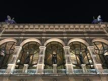Die Oper von Wien bis zum Nacht - Detail Lizenzfreie Stockfotografie