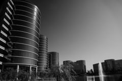 Die Oracle-Hauptsitze gelegen in Redwood City lizenzfreie stockbilder