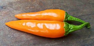 Die orange frischen Pfeffer Lizenzfreie Stockbilder