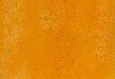 Die orange Zementwand Stockfoto