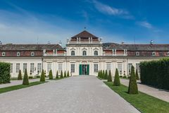 Die Orangerie, senken Belvedere-Palastgärten, Wien, Wien, Österreich stockfotografie