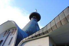 Die orthodoxe Kirche der Heiligen Dreifaltigkeit in Hajnowka Stockbilder