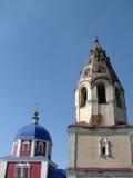 Die orthodoxe Kirche in der russischen Stadt von Region Meshchovsk Kaluga Lizenzfreies Stockbild