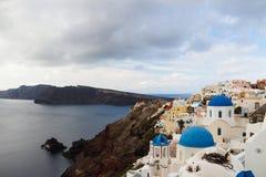 Die orthodoxe Kirche in Santorini Lizenzfreies Stockfoto