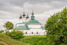 Die orthodoxe Kirche in Suzdal Suzdal ist eine der ältesten russischen Städte Stockfotos