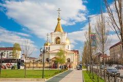 Die orthodoxe Kirche von Michael der Erzengel Grosny, Tschetschenien Lizenzfreie Stockfotografie