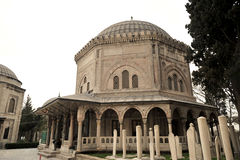 Die Osmanesultan 1 Suleiman Grab/Istanbul-Türkei lizenzfreie stockfotos