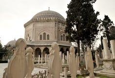 Die Osmanesultan 1 Suleiman Grab/Istanbul-Türkei stockfotos