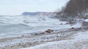 Die Ostsee im Winter stock footage