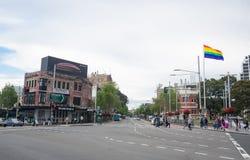 Die Oxford-Straße an Taylor-Quadrat, Darlinghurst, New South Wales lizenzfreie stockfotografie
