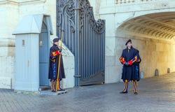 Die päpstliche Schweizergarde, Rom, Italien Stockfotografie