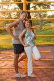 Die Paare, die nach sich entspannen, arbeiten aus Lizenzfreies Stockfoto