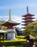 Die Pagode an Senso-Jitempel in Tokyo, Japan Stockfotos