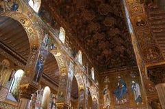 Die palatine-Kapelle von Palermo in Sizilien Stockbild