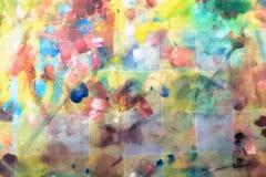Die Palette auf dem Taschentuch Ölfarbe lizenzfreie stockfotografie