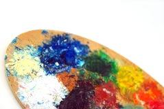 Die Palette des bunten Künstlers Stockfoto