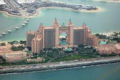 Die Palme Dubai und Atlantis-Hotel Stockfotos