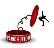 Die Panik-Taste schiebt zurück Stockfotos