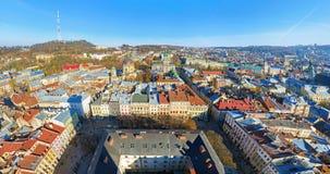 Die panoramische Ansicht von Lviv, Ukraine Stockfoto