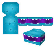 Die paper boxes templates with cartoon monsters Stock Images