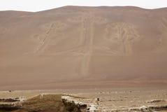 Die Paracas-Kandelaber - Peru- - Anden-Kultur Stockfotos