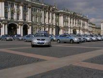 Die Parade der Abteilung des Schutzes am Palastquadrat in St Petersburg Lizenzfreie Stockfotografie