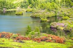 Die paradisal Landschaft von Glen Etive mit der Flussmündung Etive, Schottland lizenzfreies stockfoto