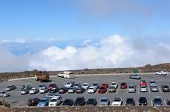 Parken am Gipfel Stockfotos